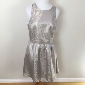 Anthro ALEXANDRA GRECCO Metallic Cocktail Dress 10